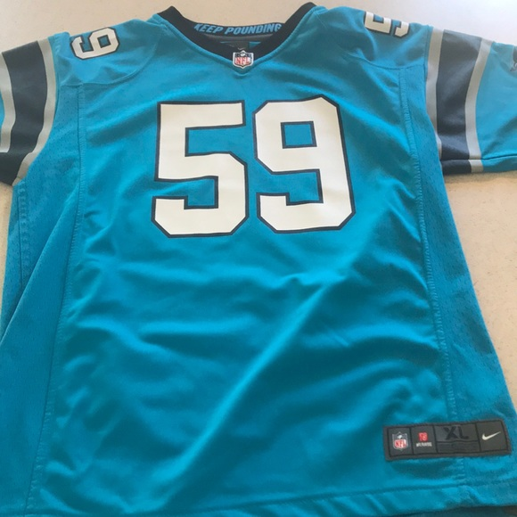 wholesale dealer efa56 2524a Authentic Youth XL Luke Kuechly Jersey Teal Color